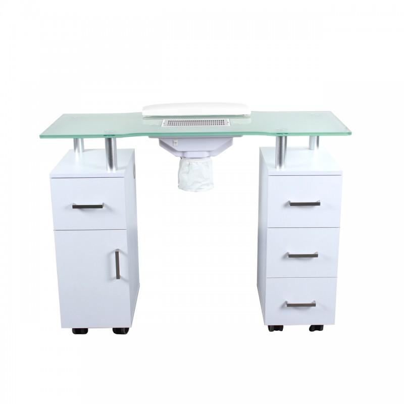 بيوتي واي طاولة مناكير - أبيض