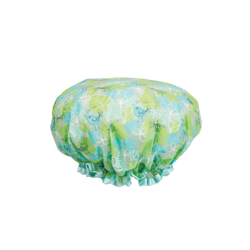 CALA SHOWER CAP FLORAL GREEN